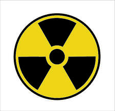 Nuclear Radiation Sign Warning Symbol Bio Hazard Sticker NUKE Radioactive RACE