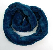 [US Seller] Thick warm faux rabbit fur plush winter double loop infinity scarf