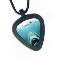 Jaws shark movie Pickbandz Mens or Womens Real Guitar Pick Necklace