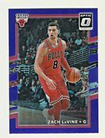 2017-18 Panini Donruss Optic PURPLE PRIZM #22 ZACH LAVINE Chicago Bulls