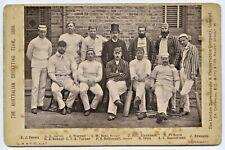 SCARCE 1888 ORIGINAL CABINET PHOTO AUSTRALIAN CRICKET TEAM LONDON STEREOSCOPIC