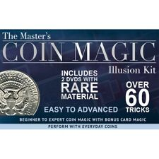 Master's Coin Magic Illusion Kit 2 DVDs Rare Material Bonus Card Tricks