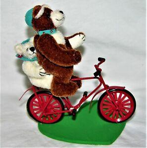 Little Gems Father and Son Bear on Bike #653 - Becky Wheeler
