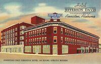 Anniston, ALABAMA - Hotel Jefferson Davis - 1943 - LINEN