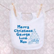 Personalised Baby Bib - Christmas Design