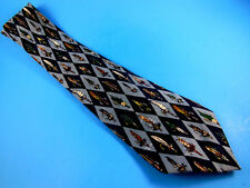Nichole Miller Silk Tie Fishing Lures 1997 necktie Blues made in Korea Father's