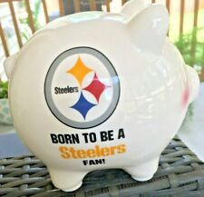 """Pittsburgh Steelers """"Born To Be A Steelers Fan!"""" Piggy Bank"""