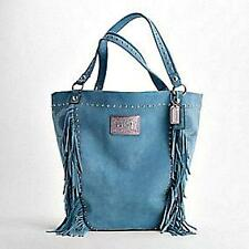 NEW COACH Ltd Ed POPPY STUDDED FRINGE LEATHER BELLA TOTE BAG PURSE HANDBAG WOW!