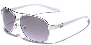Women Fashion Aviator Sunglasses Round Shaped Designer Glasses Black White Blue