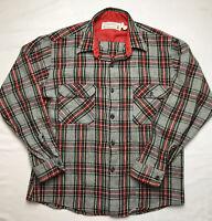 Vintage Fieldmaster Sears Perma-Prest Wool Bl Button Up Shirt Sz Mens L 16-16.5