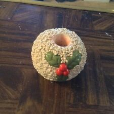 Small holly Christmas candle holder
