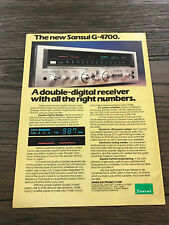 1979 VINTAGE 8X11 PRINT Ad FOR Sansui G-4700 DOUBLE DIGITAL Stereo Receiver