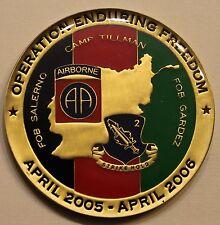 82nd Airborne 504th PIR 2nd BN White Devils OEF Army Challenge Coin