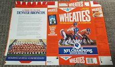 Wheaties Denver Broncos 1988 NFL Champions Commemorative Box Flat