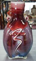Ballston Lake Pottery Flambe Glaze Bottle Vase