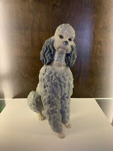 Lladro Spain Poodle Figurine *Rare* Gray Glazed Collectible