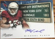 2012 Prestige Draft City Destination Autographs Michael Floyd #8