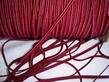 Vintage Burgundy Soutache Cord -  Soutache Rayon Cord Trim 5 yards