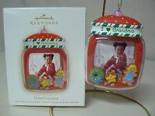 Hallmark Ornament 2008 I LOVE GRANDMA NEW Photo Holder Cookie Candy Girl