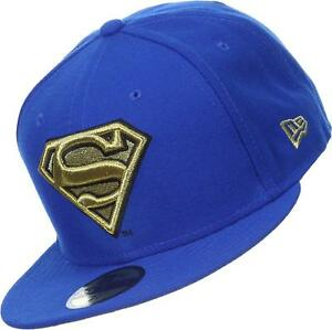 NEW ERA OFFICIAL DC 59FIFTY FITTED BASEBALL CAP SUPERMAN GOLD 3D LOGO MANY SIZES