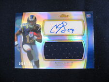 CHRIS GIVENS AUTO & PLAYER-WORN RELIC CARD--2012 FINEST