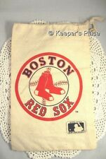 Vintage Official MLB Boston Red Sox Fabric Bag With Rope Drawstring Closure