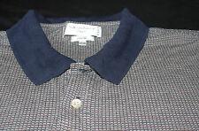 XL International Tour Club Silk Golf Polo Navy Blue Shirt Extra Large