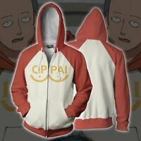 ONE PUNCH MAN Saitama Oppai Hoodie Sweatshirt Cosplay Costume Men's Jacket Coat