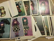 COMPLETE SET of Santoro Gorjuss 3 Stickers Panini Pink GIRLS CUTE NEW OUT