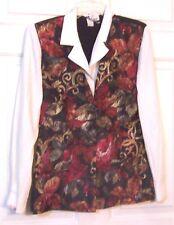 Sz 7/8 -  Marnie West attached Floral Vest Top Size 7/8