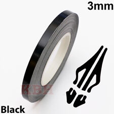 "3mm x 9.8m Pinstripe Solid Pin Stripe Tape Vinyl Decal Sticker Car 1/8"" Black"