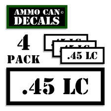 ".45 LC Ammo Can 4x Labels Ammunition Case 3""x1.15"" stickers decals 4 pack WT"