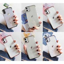 Clear Slim Rubber TPU Cover Case For iPhone 13 Pro Max 12 Mini 11 XS XR 8 7 Plus