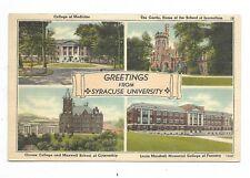 SYRACUSE NY a multi view postcard Syracuse University
