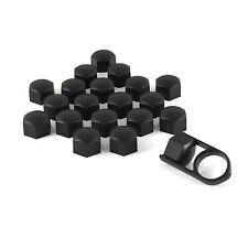 Set 20 19mm Black Car Caps Bolts Covers Wheel Nuts For Audi A3 8L 8P Sportback