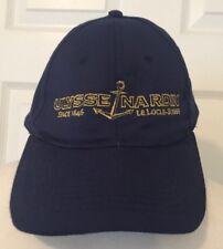 Ulysse Nardin Hat Cap Blue Gold Embroidery Logo Adjustable