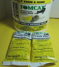 Tomcat Diphacinone 2-3 OZ Yellow Place Pacs 2 Packs 6 oz Kills Mice&Rats DEAD!