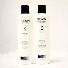 Nioxin System 2 Cleanser & Scalp Therapy for Fine Thinning Hair Duo 10 oz