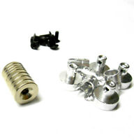N10078 1/10 Scale RC 21mm Long Magnetic Body Shell Mount Posts Alloy Silver x 4
