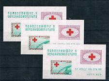 Corea del Sur. 3 Hojas Bloques Cruz Roja. Ivert nº 14**. Valor 150 Euros