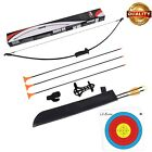 Archery Recurve Bow Set for Kid Adult Beginner 10 lbs Hunting Takedown Long Bow