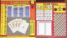 $1.00 CLUB DEAL & Little Giant Card - Punch Card GAME Board Play Raffle Gambling