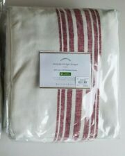 """Pottery Barn Riviera Stripe Panel Curtain Blackout Lining Red 108"""" #4485"""