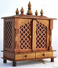 Wooden Handcrafted Hindu Temple Mandir Pooja Ghar Mandap For Worship / Home Art