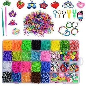 Bands Kit,Rubber Bands Refill Kit DIY Bands Set Bracelet Kit Toy Set Box