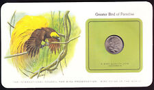 Greater Bird of Paradise 1971 Indonesia Coin on Birds Preservation Card Tropical