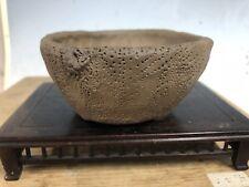 "Shohin Or Mame Size Handmade Bonsai Tree Carved Pot By Tojaku 3 7/8"""