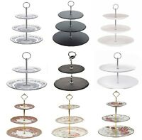 3 Tier Glass Ceramic Cake Stand Afternoon Tea Wedding Plates Party Tableware