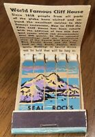 Vintage Cliff House at Seal Rocks San Francisco CA FULL FEATURE Matchbook Match