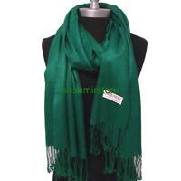 NEW Women Soft PASHMINA Classic Cashmere SHAWL Scarf Stole WRAP Solid Sea green